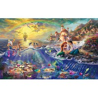 Thomas Kinkade The Little Mermaid prints  Art Print On Canvas  Home Decoration Wall Art Free Shipping