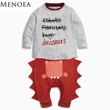 Baby Boy Clothing Set ( Letter Printed Long sleeve T-shirt + Pant )