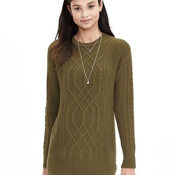 Banana Republic Womens Todd & Duncan Cable Knit Cashmere Tunic