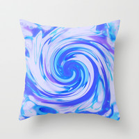 Wave Throw Pillow by Elena Indolfi