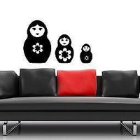 Wall Stickers Vinyl Decal Russian Nesting Dolls National Symbol Unique Gift ig1621