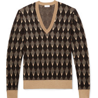 Dries Van Noten - Slim-Fit Jacquard Merino Wool and Cotton-Blend Sweater