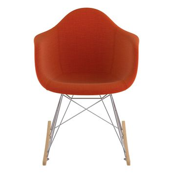 Mid Century Rocker Chair  Lava Red