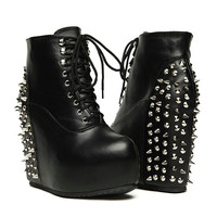 Spiked Wedge Booties (SOLD OUT)