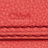 Chlo Red Leather Marcie  Wallet
