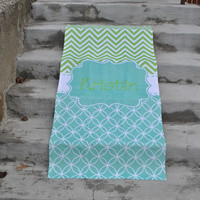Retro Chevron - Beach Towel