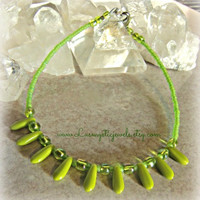 Beach Green Anklet, Boho,Hippie,Beach Jeweley,Direct Checkout