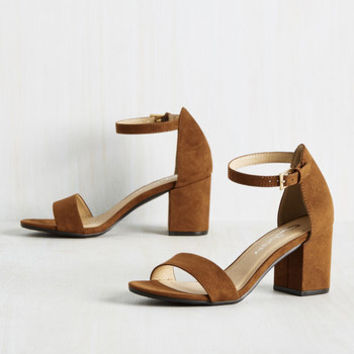 Take It Slow Dance Heel in Whiskey | Mod Retro Vintage Heels | ModCloth.com