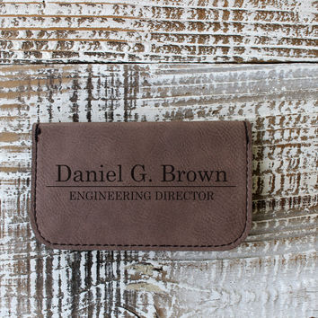 Soft Personalized Business Card Holder