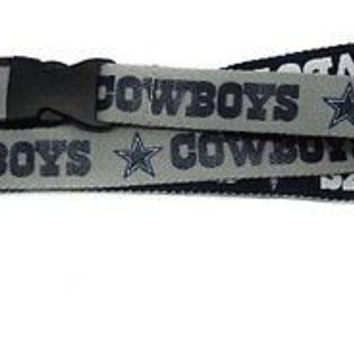 Cowboys Two Tone Licensed NFL Keychain/ID Holder Detachable Lanyard-New!