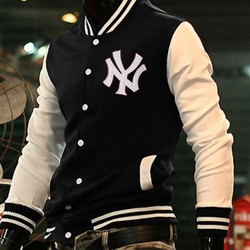 New York College Baseball Letterman jacket Black : Varsity Letterman Jackets,Varsity Jackets For Girls Online Store!
