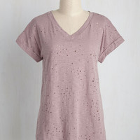 Can't Distress It Enough Top in Lavender | Mod Retro Vintage Short Sleeve Shirts | ModCloth.com