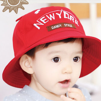 So Cute Baby Red Fisherman Cap Comfortable Hot Summer Gift 46