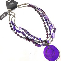 A.N.A Purple Shell Necklace