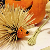 Halloween Toothpick Holder/Toothpick Dispenser/Halloween Kitchen Accessory/Fall decor/Porcupine stuffed toy