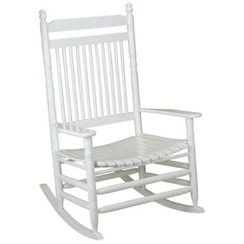shop.crackerbarrel.com: Jumbo Slat Rocking Chair - White - Cracker Barrel Old Country Store