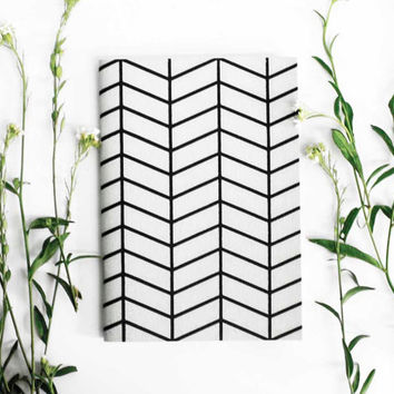 hand screenprinted small A6 notebook pocket journal sketch book geometric print jotter