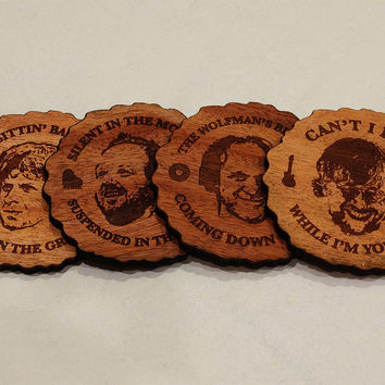 PHISH Wood Burned Coasters