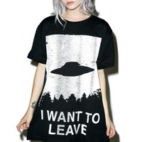 Disturbia I Want To Leave T-Shirt | Dolls Kill