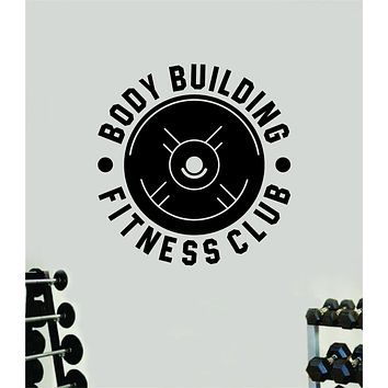 Body Building Fitness Club Wall Decal Home Decor Bedroom Room Vinyl Sticker Art Teen Work Out Quote Beast Gym Lift Strong Inspirational Motivational Health School
