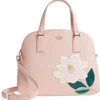 kate spade new york swamped magnolia - lottie leather satchel | Nordstrom