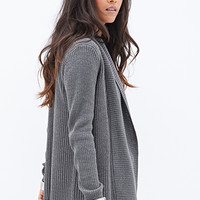 FOREVER 21 Ribbed Open-Front Cardigan