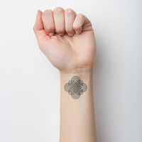 Abstract Pencil - Temporary Tattoo (Set of 2)