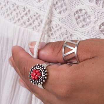 NEW! Silver Mykonos Ring