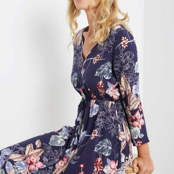 Sade Floral Button Down Maxi Dress