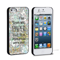 John Green Paper Towns Quotes Cover iPhone 4 5 6 Samsung Galaxy S3 4 5 iPod Touch 4 5 HTC One M7 8 Case