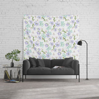 purple spring flowers Wall Tapestry by sylviacookphotography