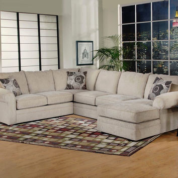 Ridge Chocolate Chaise Sectional