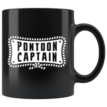 Pontoon Captain 11oz Black Mug
