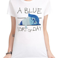 Disney Inside Out Blue Sort Of Day Girls T-Shirt