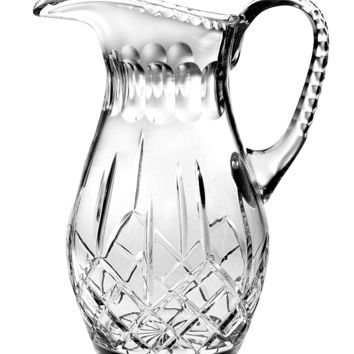 Majestic Gifts PL-162 Hand Cut Crystal 48 oz. Pitcher
