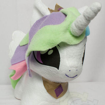 CHIBI Princess Celestia MLP Hand-Made Custom Craft Plush