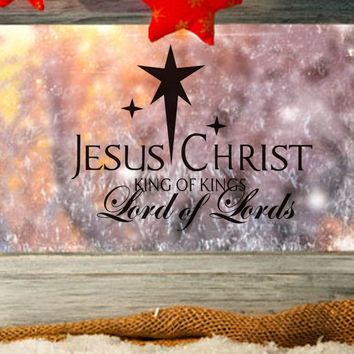 Christmas Decoratiion For Home Jesus Christ Lord Of Lord Wall Sticker Merry Xmas Coffee Shop Bedroom Hotel Home Decor