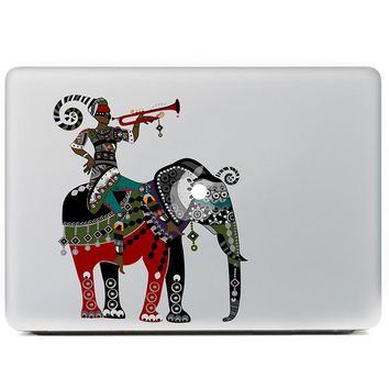 Blowing horn elephant war  Vinyl Decal Sticker for DIY Macbook Pro / Air 11 13 15 Inch Laptop Case Cover Sticker