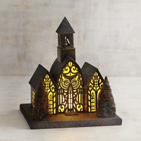 LED Light-Up Owl Haunted Chapel