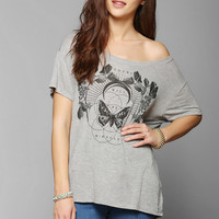 Truly Madly Deeply Floral Butterfly Tee - Urban Outfitters