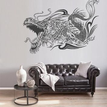 ik1592 Wall Decal Sticker Dragon mythical animal living bedroom teens