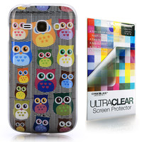 Multi Owl Graphic 3310 back cover, Samsung Galaxy Ace 3, Gray