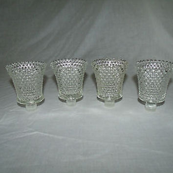 Vintage Hobnail Votive Clear One Pair Left Homco | Home Interior Replacement Glass Candle Holder Sconce Romantic
