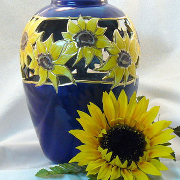 Simple Ceramic Sunflower Vase
