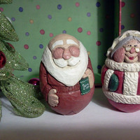 Mrs. Claus Woodcarving