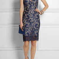 Lover | Mia halterneck lace dress | NET-A-PORTER.COM