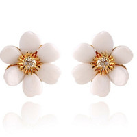Trendy Flower Stud Earrings