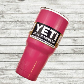 Yeti Rambler, Powder Coat Yeti, Monogram Yeti, 30 oz. Yeti