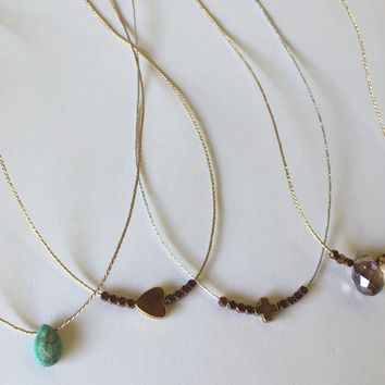 Teresa Verlengieri - Thread Necklaces with Pendant