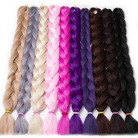 Synthetic Fiber Braid Jumbo Braid Hair